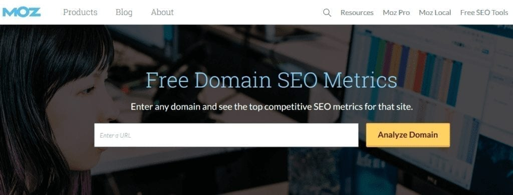 Moz SEO analyzer