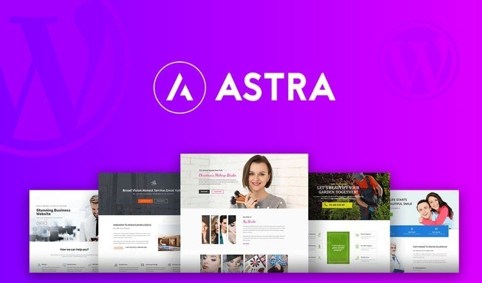 astra WordPress Thema Django Websites
