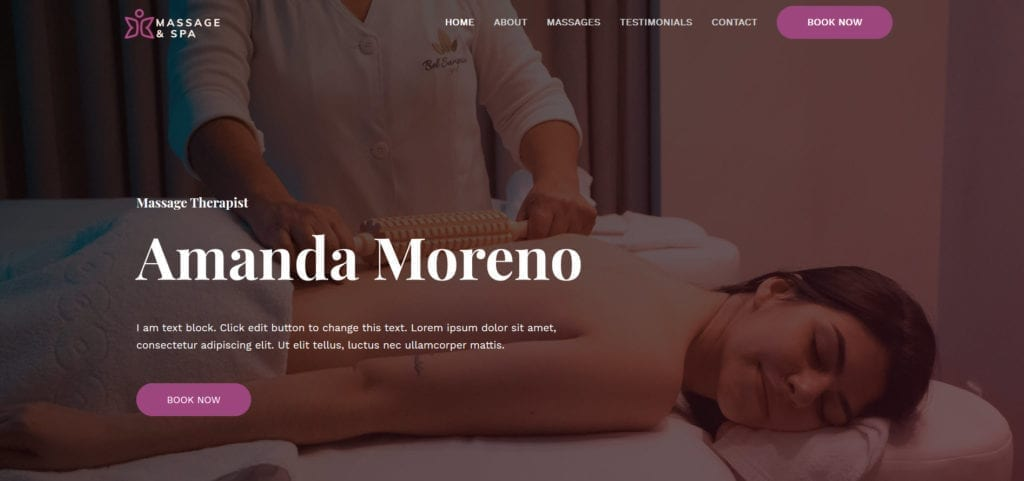 Massage Django Website